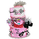 Adorable Born to Shop Diaper Cake