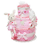 Ballerina Bunny Diaper Cake