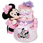 Bath Minnie Mouse Diaper Cake