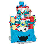 Bath Cookie Monster Diaper Cake