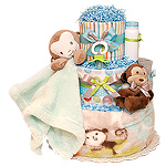 Cute Little Monkey Boy Diaper Cake