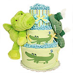 Alligator Diaper Cake