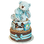 Story Time Bear Diaper Cake