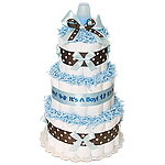Blue Chocolate Boy Diaper Cake