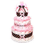 Pink Chocolate Girl Diaper Cake