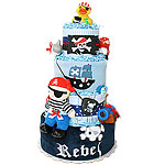 Rebel Pirate Diaper Cake