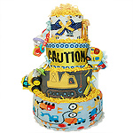 Caution! Baby Under Construction Diaper Cake