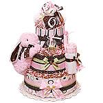 Custom Bunny Diaper Cake