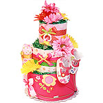 Flowers Diaper Cake