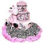 Fabulous Zebra Diaper Cake