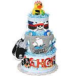 Daddy's First Mate Pirate Diaper Cake