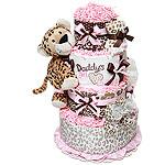 Daddy's Girl Leopard Diaper Cake