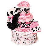 Baby Panda Diaper Cake