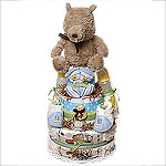 Classic Pooh A Bear and His Things Diaper Cake