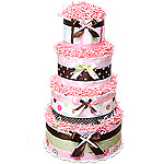 Custom Diaper Cake with Blankets