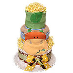 Baby Giraffe Orange and Green Diaper Cake