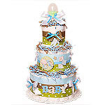 Baby Boy ABC Diaper Cake