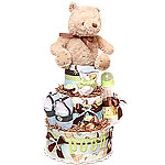 Classic Pooh Diaper Cake for a Boy
