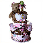 Classic Pooh Diaper Cake for a Girl!