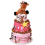 Cute Cowgirl Diaper Cake