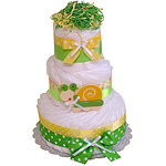 Fun Snail Decoration Diaper Cake