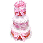 Farm Pig Decoration Diaper Cake