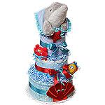 Dolphin Blanket Diaper Cake