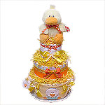 Fuzzy Duckling Diaper Cake