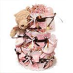 Classic Pooh Girl Diaper Cake II