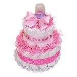 It's a Girl Diaper Cake - 13 Cakes Shipping Included