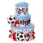Sport Soccer Ball Diaper Cake
