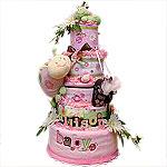 Spring Garden Diaper Cake