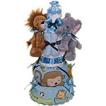 Jungle Safari Twins Diaper Cake