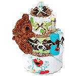 Elmo and Pooh Diaper Cake