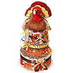 Fall Turkey Diaper Cake