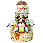 Forest Friends Owl Diaper Cake