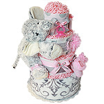 Lil Girl Elephant Diaper Cake