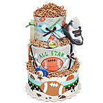 Future Quarterback Football Diaper Cake