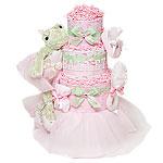 Baby Ballerina Diaper Cake