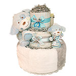 Blue Little Puppy Diaper Cake