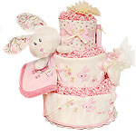 Cute Winter Bunny Diaper Cake
