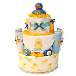 Blue Rubber Duck Diaper Cake