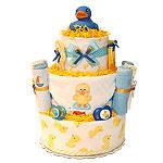 Blue Rubber Duck Diaper Cake