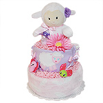 Cute Little Lamb Girl Diaper Cake