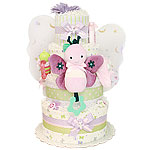 Cute Purple Butterfly Diaper Cake