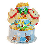 Fun Two Lions Diaper Cake