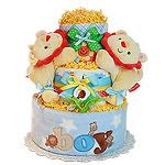 Fun Two Lions Diaper Cake