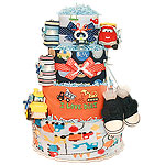 Construction Cars Diaper Cake