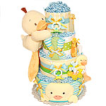 Big Blue Duck Diaper Cake