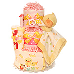 I Love Mommy Pink Duck Diaper Cake